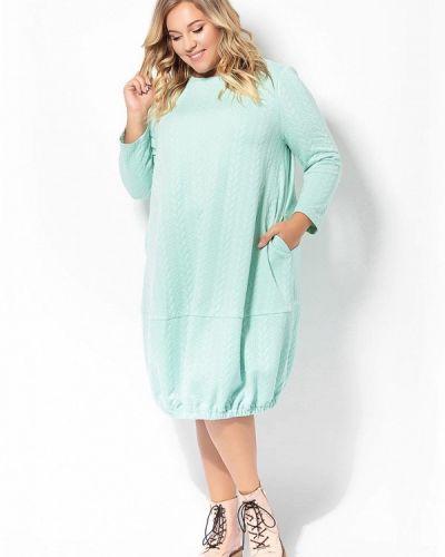 Платье бирюзовый вязаное Tutto Bene Plus