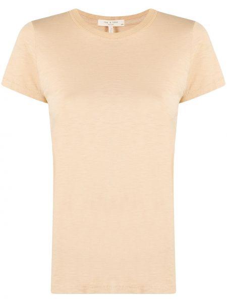 Bawełna bawełna koszula krótkie rękawy okrągły Rag & Bone