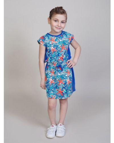 Платье с рукавами в морском стиле хлопковое Sweet Berry