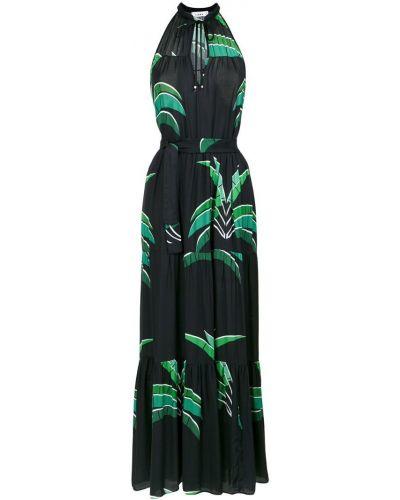 Платье макси на шнуровке с V-образным вырезом Amir Slama