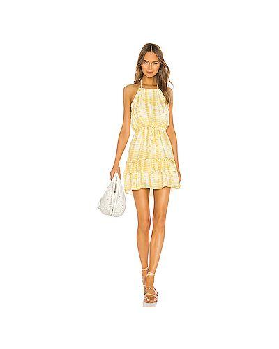 Платье мини с поясом шелковое Majorelle