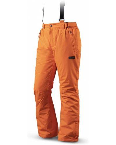 Pomarańczowe spodnie materiałowe Trimm