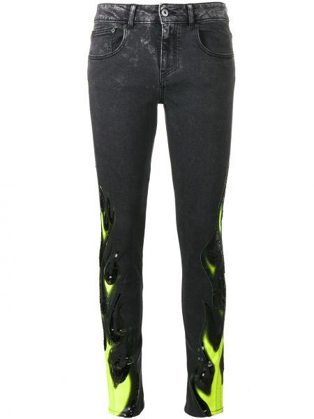 Хлопковые черные джинсы-скинни Filles A Papa