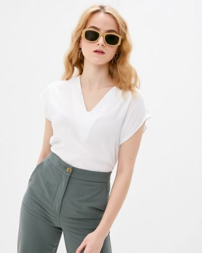 Белая блузка с короткими рукавами Bruebeck
