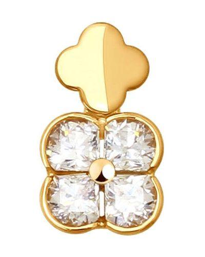 Золотая подвеска с камнями Sokolov