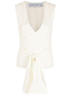 Блузка без рукавов - белая Gloria Coelho