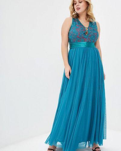 Бирюзовое вечернее платье Juana Jimenez