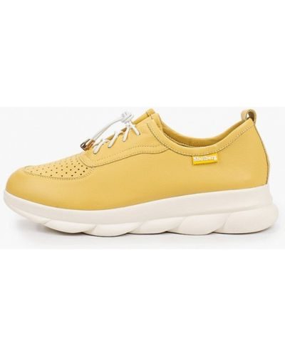 Желтые кожаные кроссовки Shoiberg