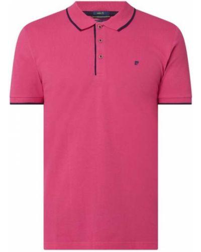 T-shirt bawełniana - fioletowa Pierre Cardin