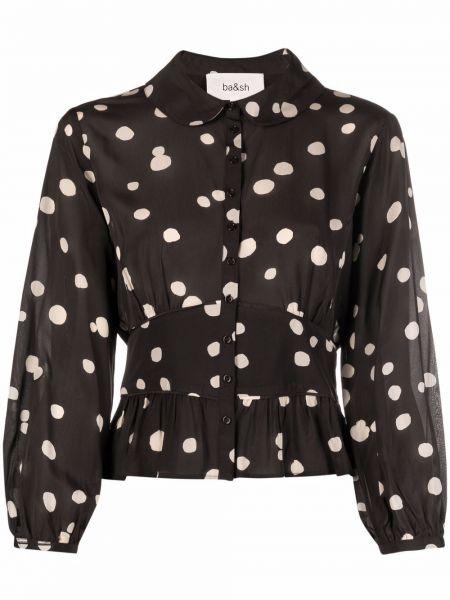 Коричневая блузка классическая Ba&sh