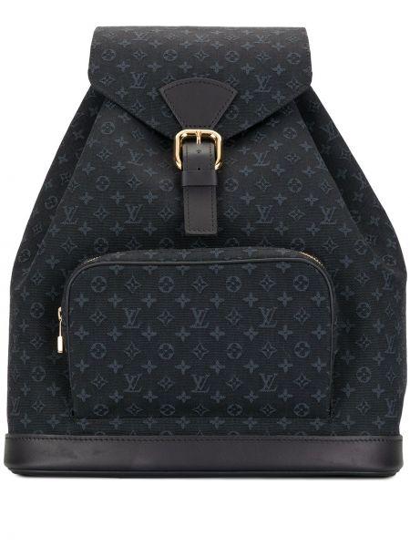 Синий кожаный рюкзак с карманами Louis Vuitton