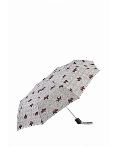 Серый зонт складной Fulton