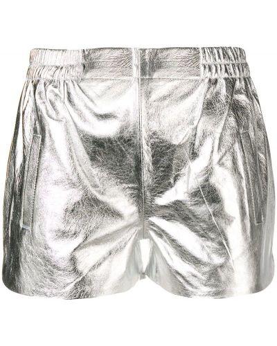 Серебряные шорты с карманами металлические Laneus