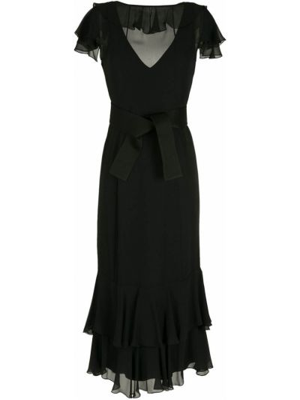 Легкое платье миди - черное Gloria Coelho