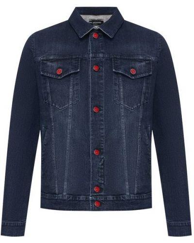 Джинсовая куртка на пуговицах хлопковая Kiton