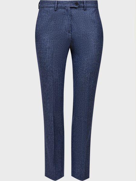 Шелковые синие брюки Kiton