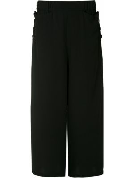 Spodnie z wysokim stanem czarne z kieszeniami Uma   Raquel Davidowicz