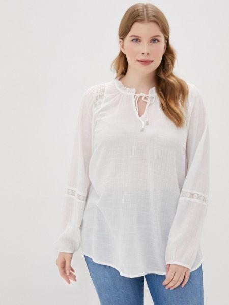 Блузка с длинным рукавом белая весенний Zizzi