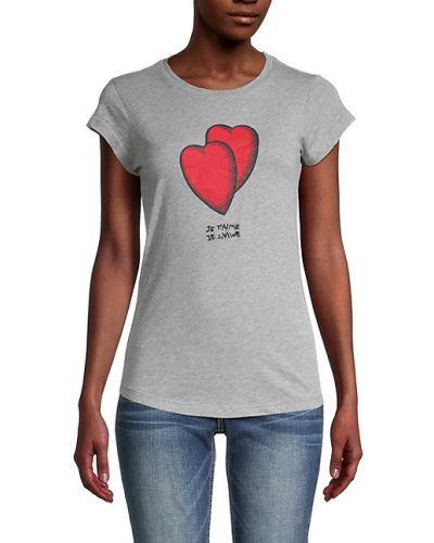 Приталенная хлопковая футболка с короткими рукавами Zadig & Voltaire