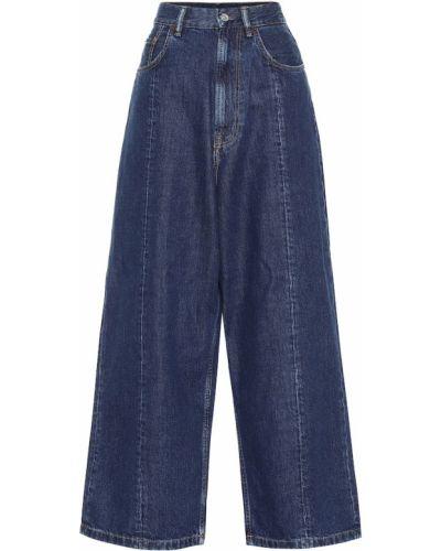 Ватные хлопковые синие широкие джинсы свободного кроя Acne Studios