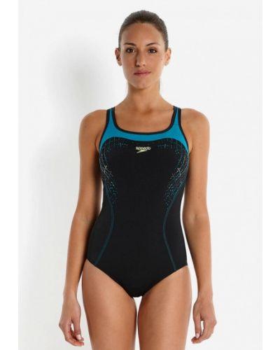 Черный спортивный купальник Speedo
