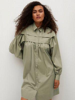 Платье рубашка - хаки Mango