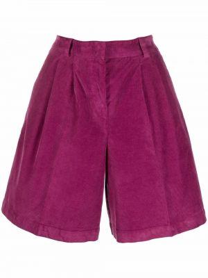 Хлопковые шорты - фиолетовые Pt01
