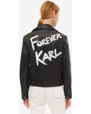 Кожаная куртка с карманами Karl Lagerfeld