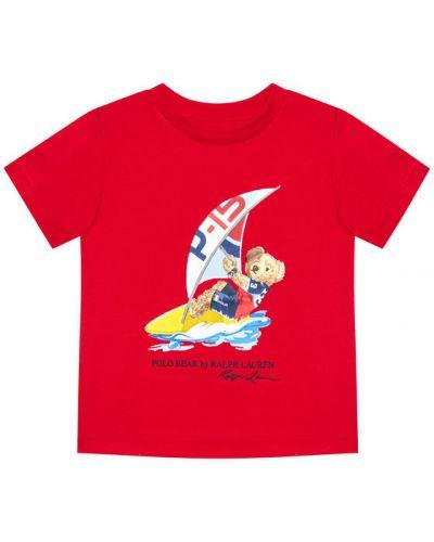 Czerwony t-shirt Polo Ralph Lauren
