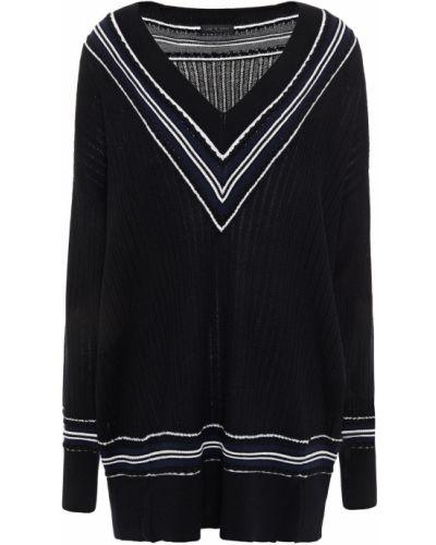 Czarny sweter wełniany w paski Rag & Bone