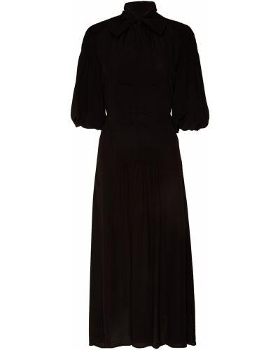 Платье миди макси со складками Prada