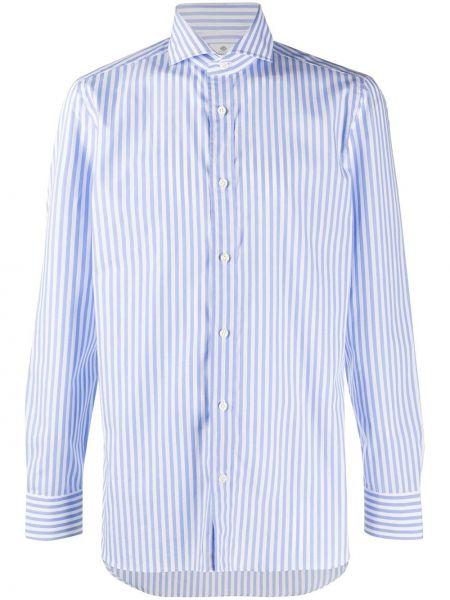 Рубашка с воротником с нашивками с манжетами на пуговицах Borrelli