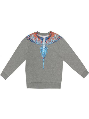 Szary sweter bawełniany Marcelo Burlon Kids Of Milan