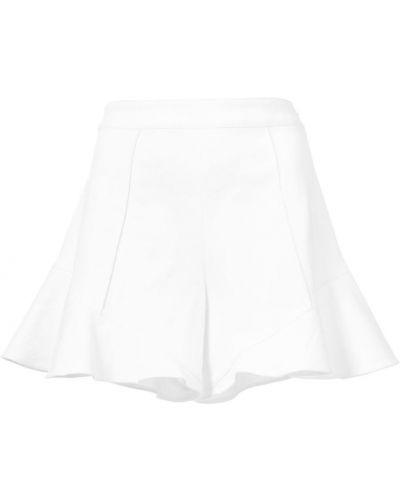 Белые шорты с оборками Josie Natori