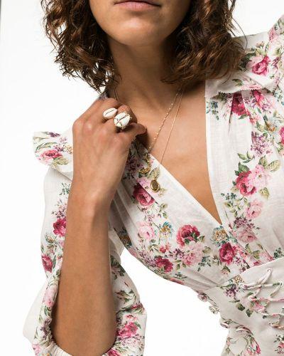 Платье мини макси с цветочным принтом Zimmermann