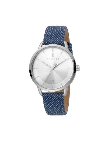 Zegarek srebrny - niebieski Esprit