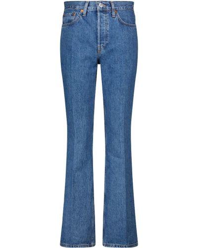 Niebieskie jeansy bootcut bawełniane Re/done