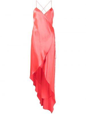 Шелковое платье миди - оранжевое Michelle Mason