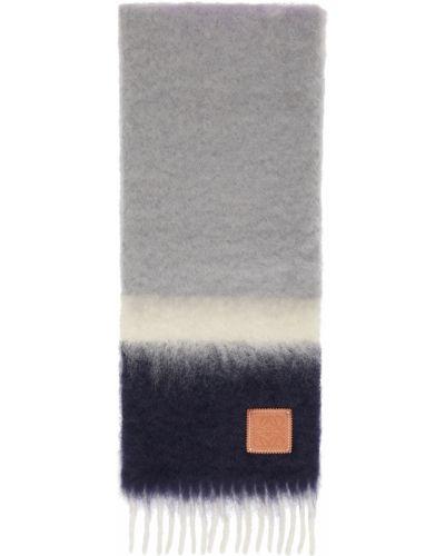 Fioletowy szalik wełniany Loewe