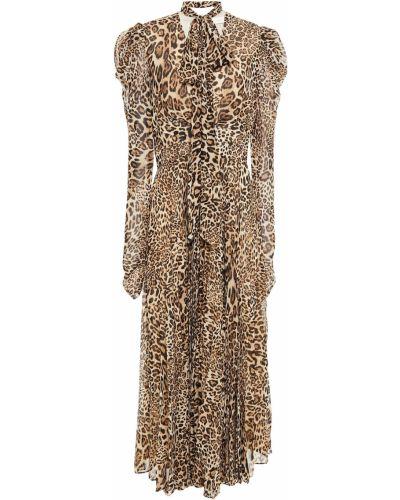 Плиссированное шифоновое платье миди с подкладкой Ronny Kobo