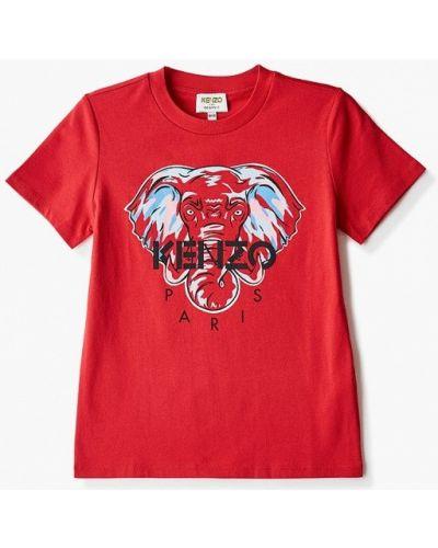 Красная футболка с короткими рукавами Kenzo