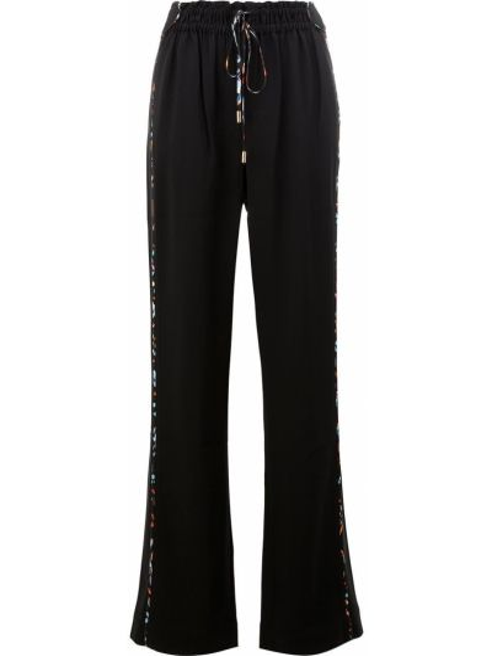 Широкие брюки - черные Peter Pilotto