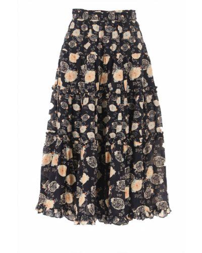 Czarna spódnica z wiskozy Ulla Johnson