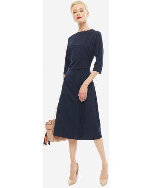 Платье шерстяное синее Olga Skazkina