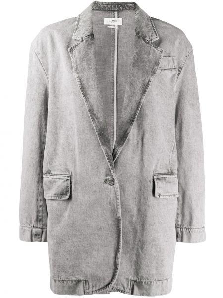 Серый пиджак с карманами на пуговицах Isabel Marant étoile