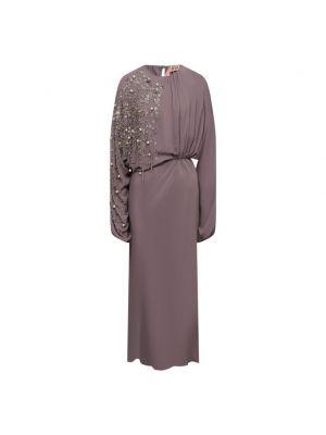 Шелковое серое платье N21