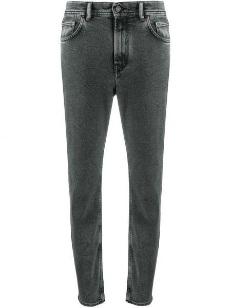 Хлопковые черные джинсы-скинни с нашивками эластичные Acne Studios