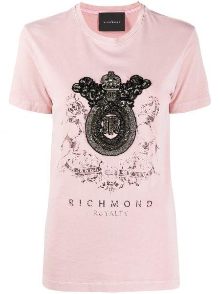 Топ розовый с леопардовым принтом John Richmond