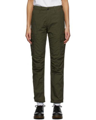 Bawełna spodni spodnie z kieszeniami z łatami Carhartt Work In Progress
