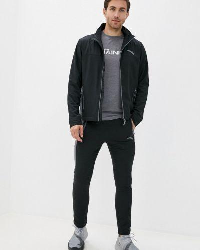 Костюмный черный спортивный костюм Anta